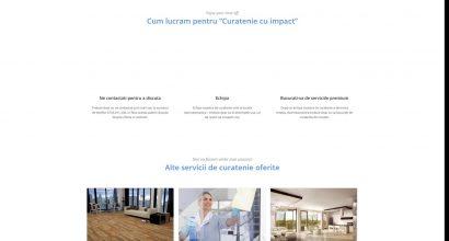 Website firma de curatenie - web design Ploiesti