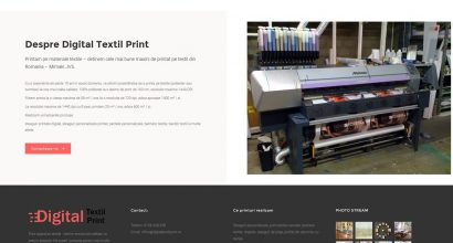Website print textile - web design Ploiesti